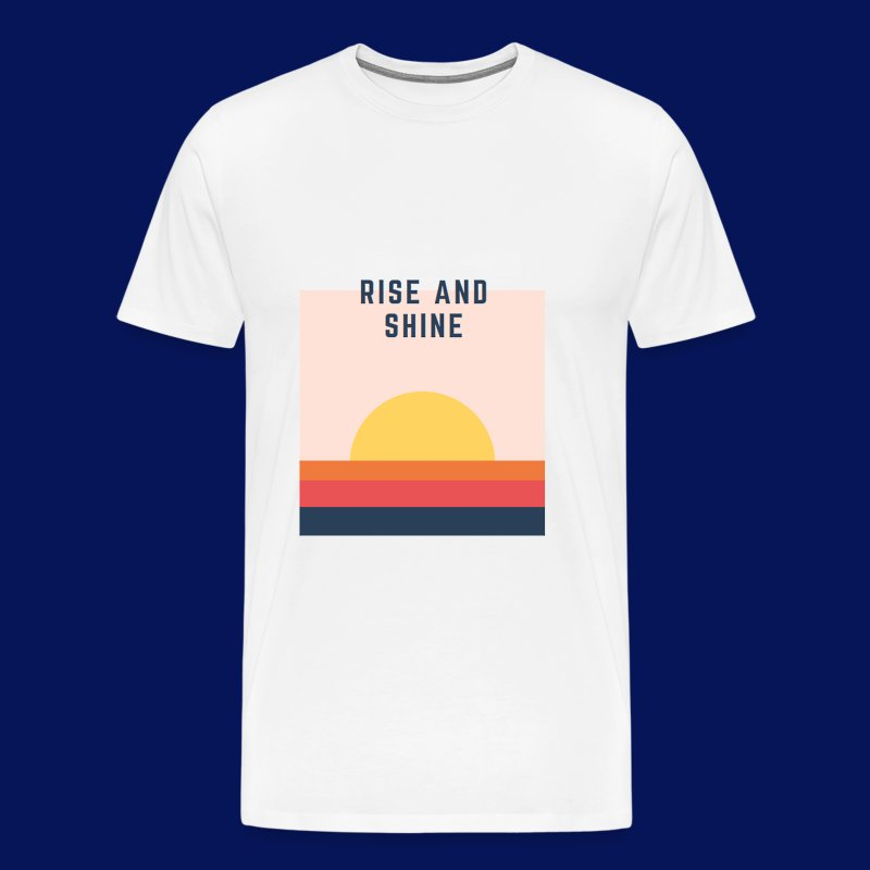 'Rise & Shine' Mens T-Shirt - Men's Premium T-Shirt