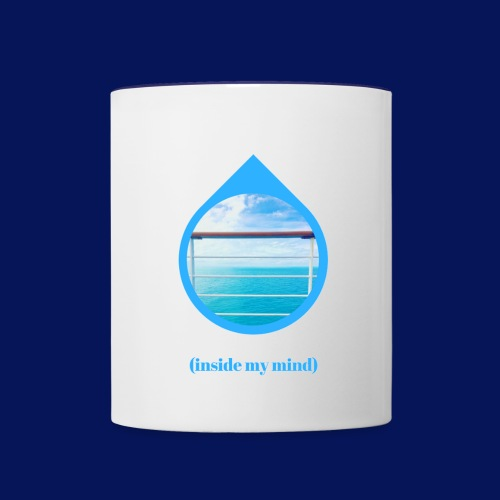 'Sea Mind' Coloured Mug - Contrasting Mug