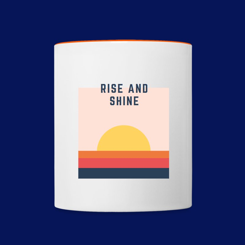 'Rise & Shine' Coloured Mug - Contrasting Mug
