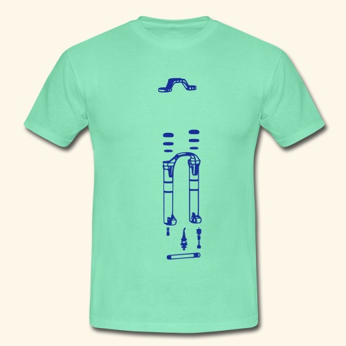 Mountainbike Fork - Männer T-Shirt
