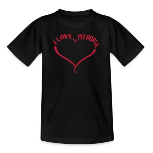 I love my Horse - Shirt Teenies - Teenager T-Shirt
