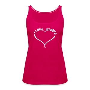 I love my Horse - Top - Frauen Premium Tank Top