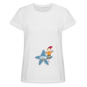 T-Shirt oversize femme - lutin à bord - T-shirt oversize Femme