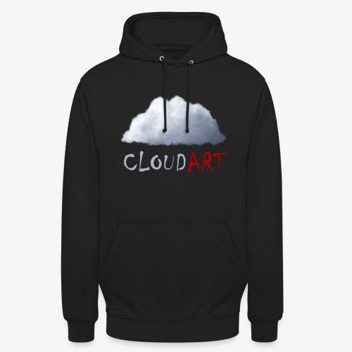 CLOUD .ART | Cloud & Red - Sweat-shirt à capuche unisexe