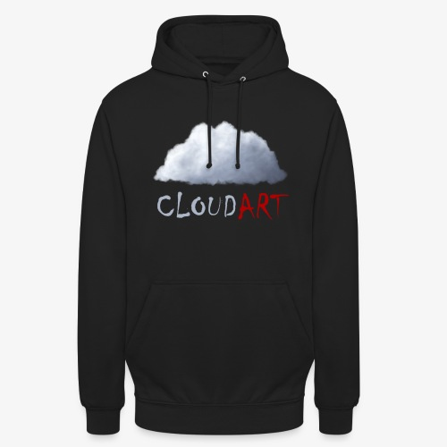 CLOUD .ART | Cloud & Red - Sweat-shirt à capuche unisexe