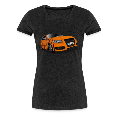 Michele Tiger girly T-Shirt + großes Logo - Frauen Premium T-Shirt
