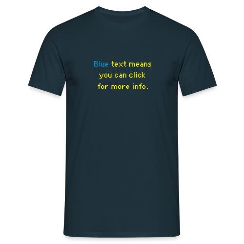 WRZ_43_BLU_TEXT - Männer T-Shirt