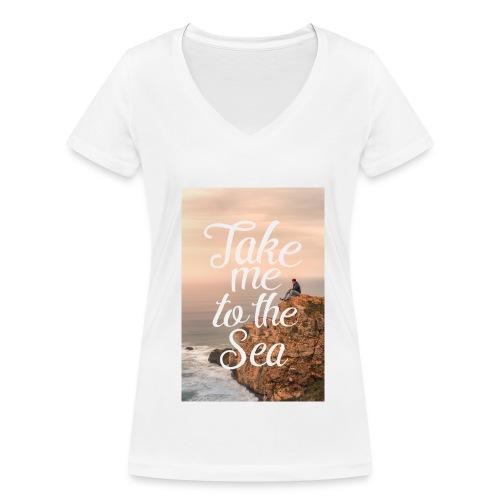 Take me to the Sea, V-Auschnitt - Frauen Bio-T-Shirt mit V-Ausschnitt von Stanley & Stella