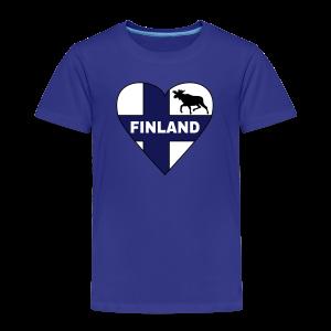 Finnland Flagge Herz T-Shirts - Kinder Premium T-Shirt