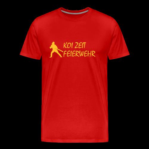 Koi Zeit - Feuerwehr - Männer Premium T-Shirt