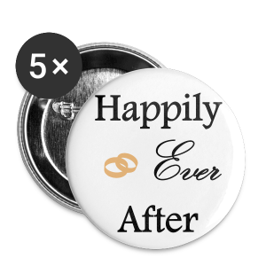 Badge Happily ever After moyen modèle (32 mm) - Badge moyen 32 mm