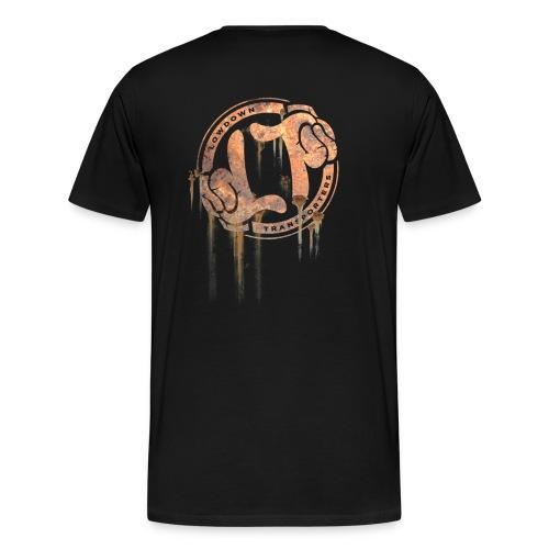 LDT Rusty Ring - back print tee - Men's Premium T-Shirt