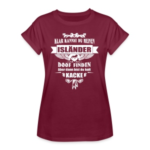 Isländer - Shirt weit - Frauen Oversize T-Shirt