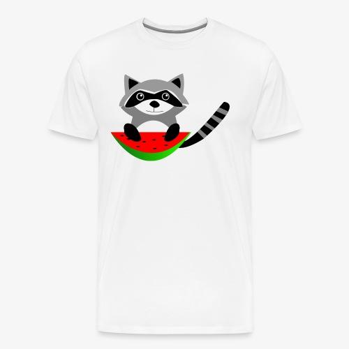Happy Racoon - Camiseta premium hombre