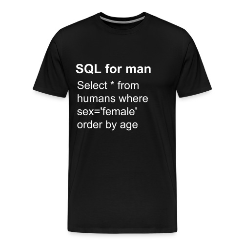 SQL for man - Men's Premium T-Shirt