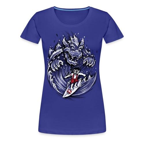 Surfing Mario - Women's Premium T-Shirt