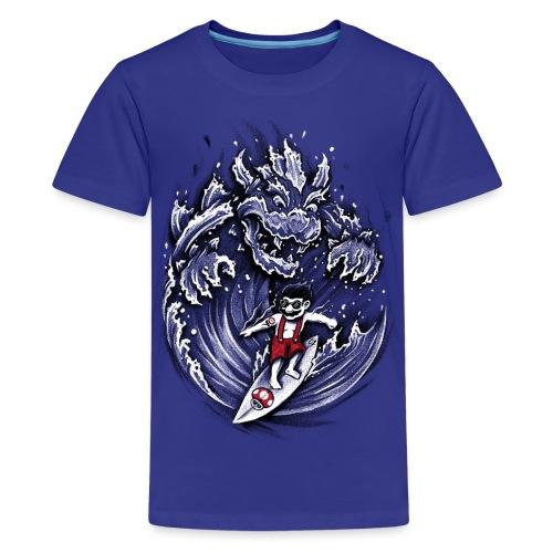 Surfing Mario - Teenage Premium T-Shirt