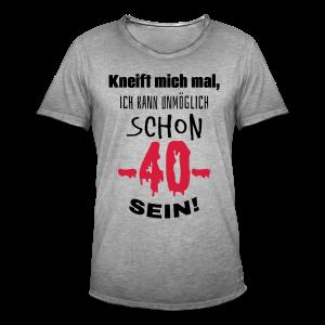 Unmöglich 40 Jahre Spruch T-Shirts