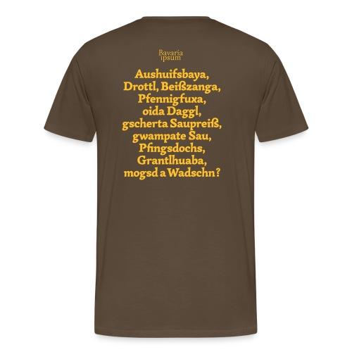 Grantl-Shirt #1 braun - Männer Premium T-Shirt