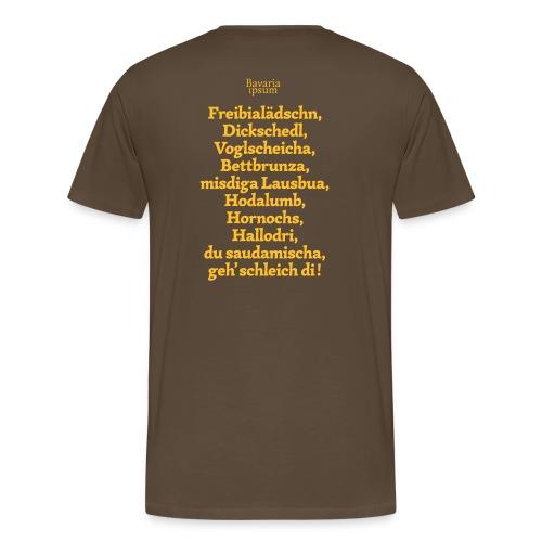 Grantl-Shirt #2 braun - Männer Premium T-Shirt