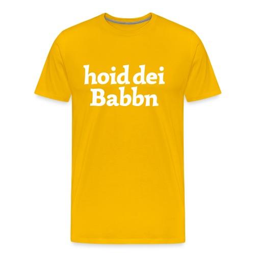 Grantl-Shirt hoid dei Babbn goldgelb - Männer Premium T-Shirt