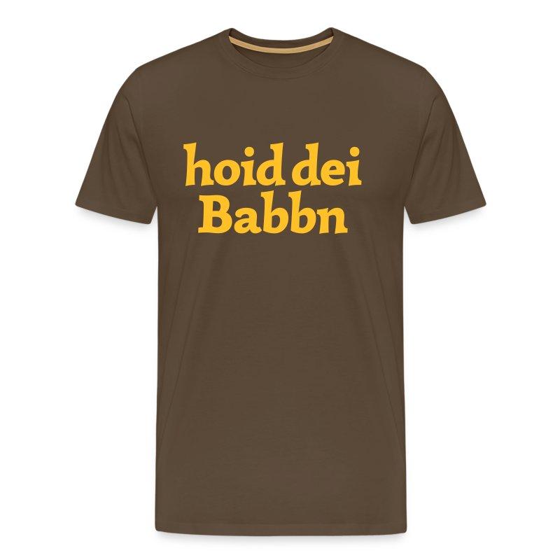 Grantl-Shirt hoid dei Babbn braun - Männer Premium T-Shirt
