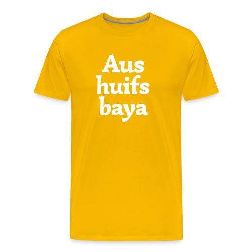 Grantl-Shirt Aushuifsbaya goldgelb - Männer Premium T-Shirt