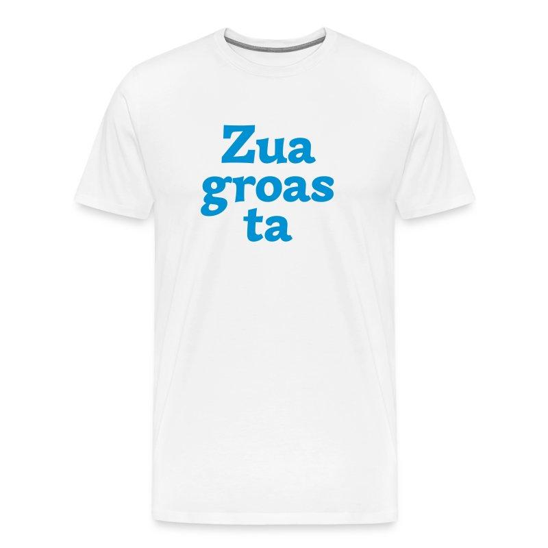 Grantl-Shirt Zuagroasta weiß-blau - Männer Premium T-Shirt