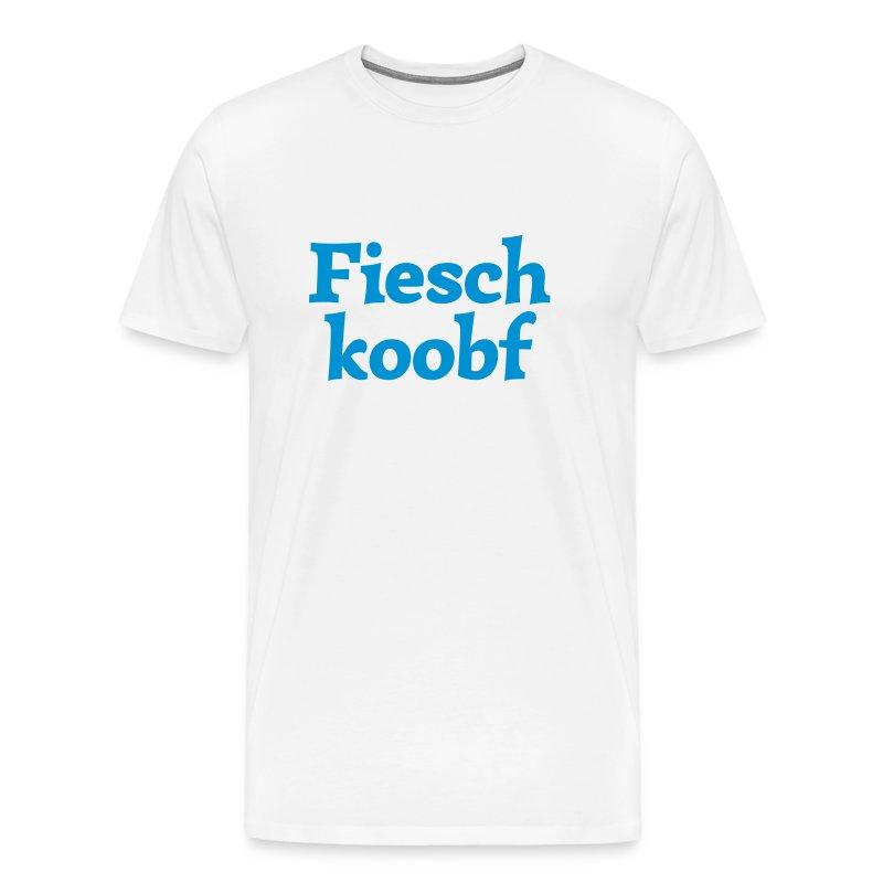 Grantl-Shirt Fieschkopf weiß-blau - Männer Premium T-Shirt