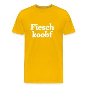 Grantl-Shirt Fieschkopf goldgelb - Männer Premium T-Shirt