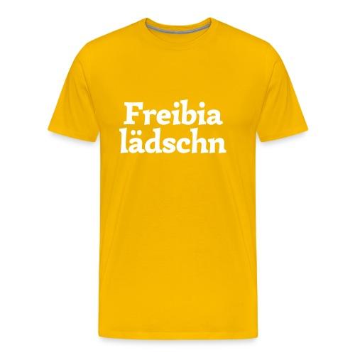 Grantl-Shirt Freibialädschn goldgelb - Männer Premium T-Shirt