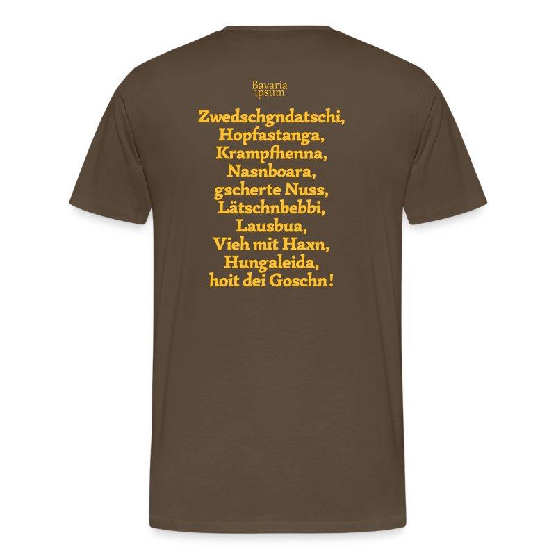 Grantl-Shirt #3 braun - Männer Premium T-Shirt