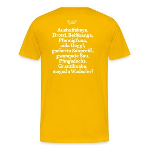 Grantl-Shirt #1 goldgelb - Männer Premium T-Shirt