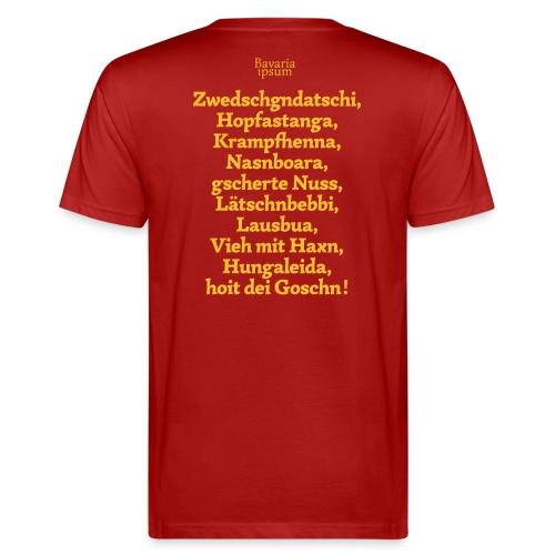 Grantl-Shirt #3 cranberry - Männer Bio-T-Shirt