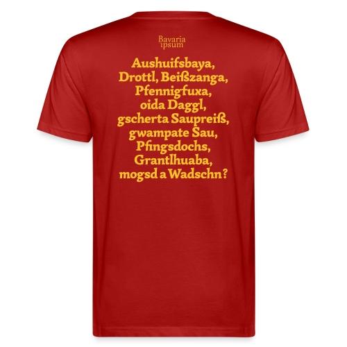 Grantl-Shirt #1 cranberry - Männer Bio-T-Shirt
