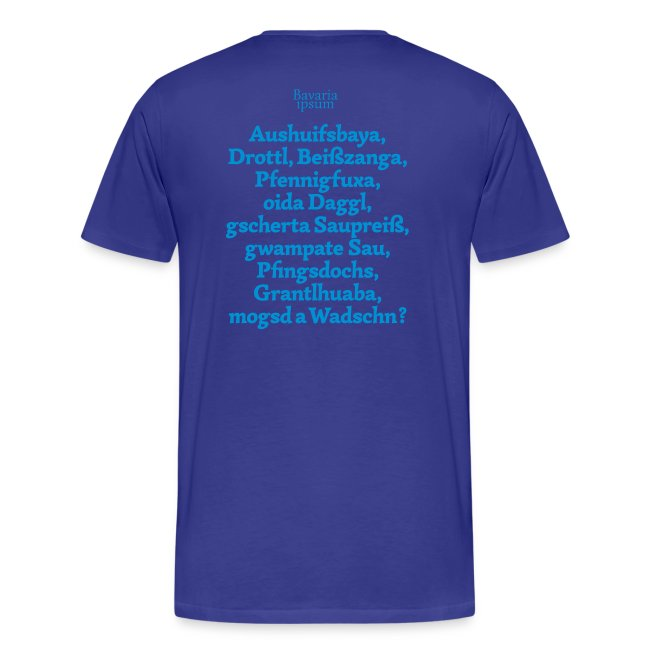 Grantl-Shirt #1 weiß-blau