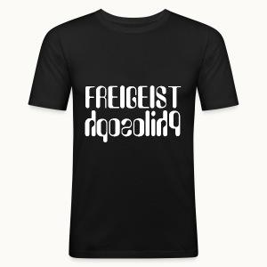 Freigeist Philosoph - Männer Slim Fit T-Shirt