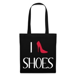 i-love-shoes shopping bag - Borsa di stoffa