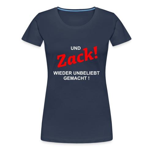 Damen T.Shirt Zack - Frauen Premium T-Shirt