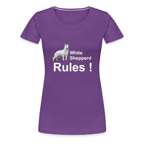 Damen T-Shirt White Shepperd - Frauen Premium T-Shirt