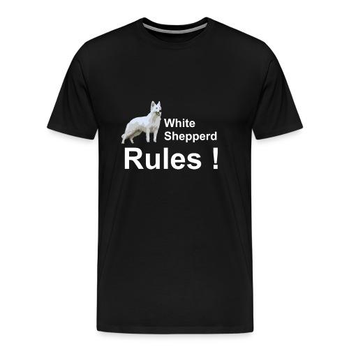 T-Shirt White Shepperd - Männer Premium T-Shirt