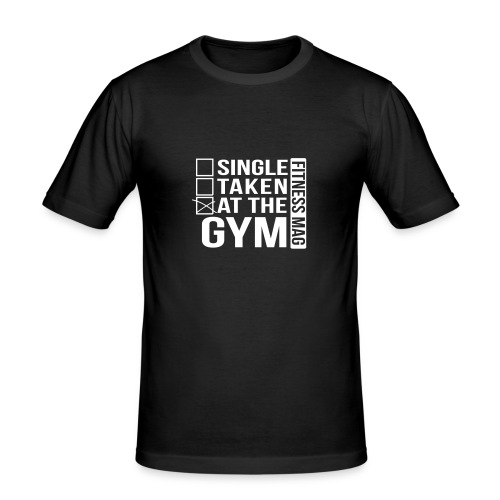 Tee shirt moulant At the Gym Fitness Mag 100% coton - Tee shirt près du corps Homme