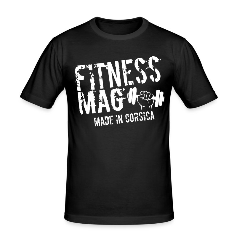 Tee shirt moulant Fitness Mag made in corsica 100% coton - Tee shirt près du corps Homme