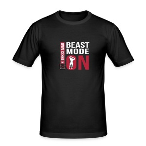 Tee shirt moulant beast Mode On Fitness Mag 100% coton - Tee shirt près du corps Homme