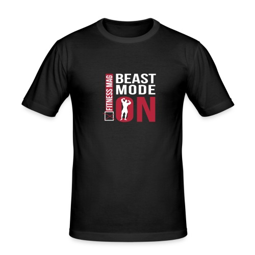 Tee shirt moulant beast Mode On Fitness Mag 100% coton - T-shirt près du corps Homme