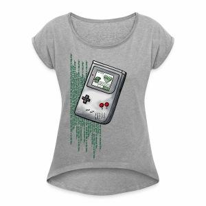 _life_Rollärmel - Frauen T-Shirt mit gerollten Ärmeln