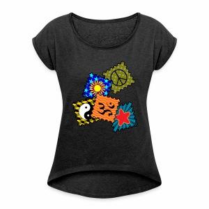 Tickets - T-Shirt - Frauen T-Shirt mit gerollten Ärmeln