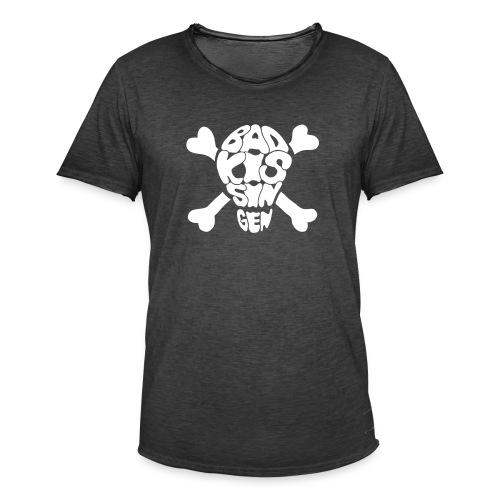 Bad Kissingen Totenkopf White (weitere T-Shirt Farben zur Auswahl) - Männer Vintage T-Shirt