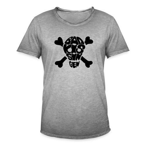 Bad Kissingen Totenkopf Black (weitere T-Shirt Farben zur Auswahl) - Männer Vintage T-Shirt