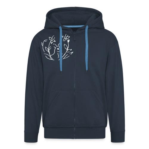 Blaue jacke - Männer Premium Kapuzenjacke